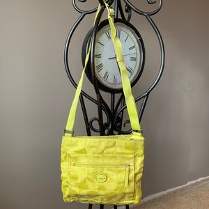 Neon Yellow Coach Purse